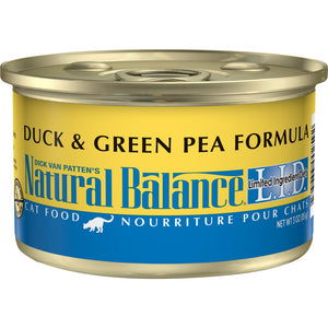 Natural Balance L.I.D. Limited Ingredient Diets Duck and Green Pea Formula Canned Cat Food