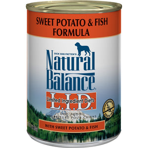 Natural Balance L.I.D. Limited Ingredient Diets Fish and Sweet Potato Canned Dog Food