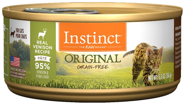 Nature's Variety Instinct Grain-Free Venison Formula Canned Cat Food
