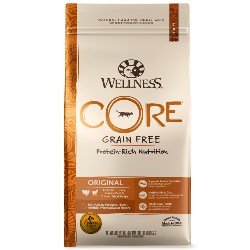 Wellness Core Natural Grain Free Original Turkey, Chicken, Whitefish and Herring Recipe Dry Cat Food