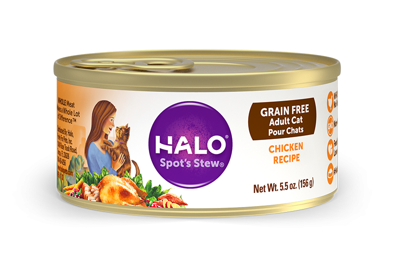 Halo Holistic Grain Free Adult Chicken Recipe Canned Cat Food