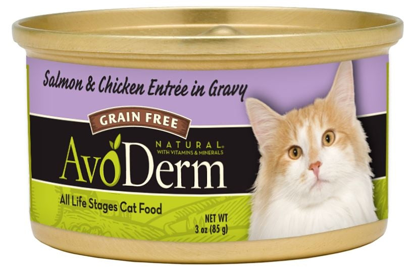 AvoDerm Natural Salmon and Chicken Entree in Gravy Canned Cat Food