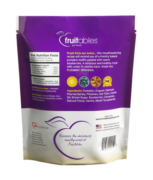 Fruitables Crunchy Pumpkin and Blueberry Dog Treats