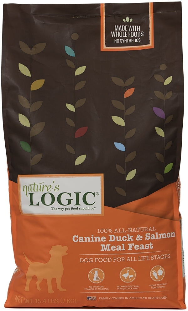 Nature's Logic Canine Duck and Salmon Meal Feast Dry Dog Food