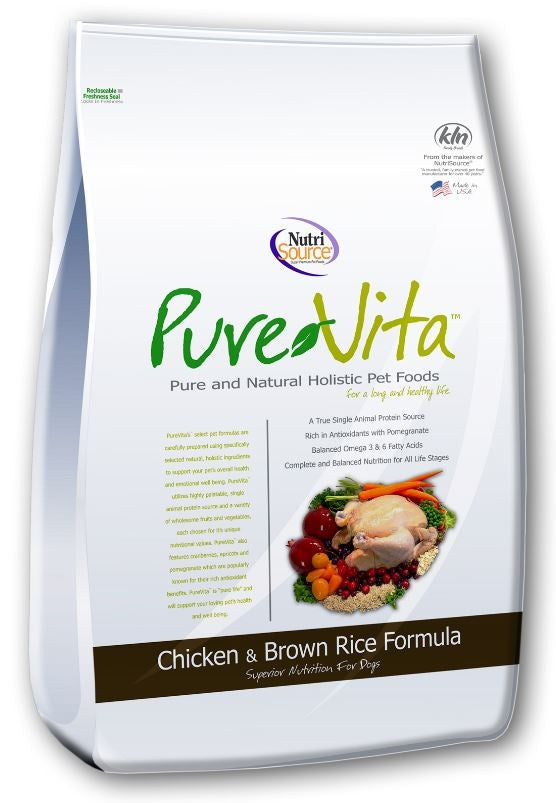 PureVita Chicken And Brown Rice Dry Dog Food