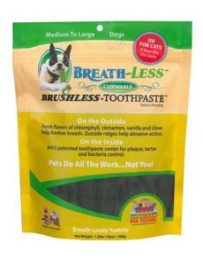 Ark Naturals BREATH-LESS Brushless-Toothpaste Med/Lg Dog Treats