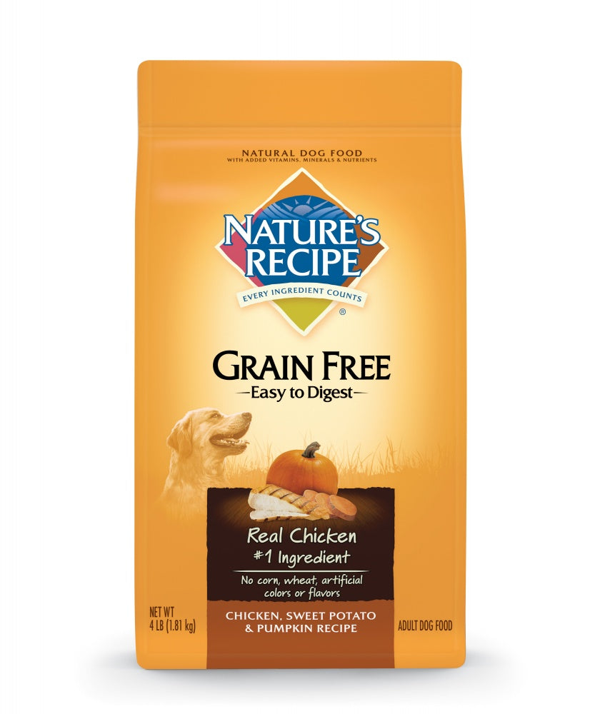 Nature's Recipe Easy to Digest Grain Free Chicken, Sweet Potato and Pumpkin Dry Dog Food