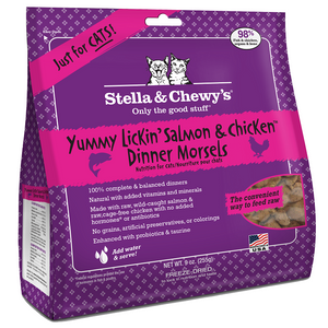 Stella & Chewy's Yummy Lickin Salmon and Chicken Freeze Dried Cat Food
