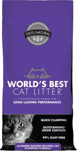 World's Best Lavender Scented Multiple Cat Clumping Formula Cat Litter