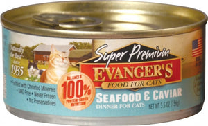 Evangers Super Premium Seafood and Caviar Dinner Canned Cat Food