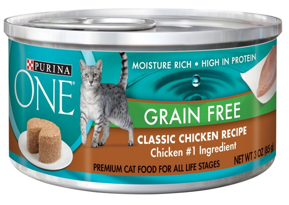 Purina ONE Grain Free Pate-Chicken Canned Cat Food