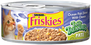Friskies Tasty Treasures Pate Ocean Fish Dinner with Cheese Canned Cat Food