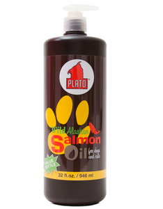 Plato Wild Alaskan Salmon Oil For Dogs and Cats
