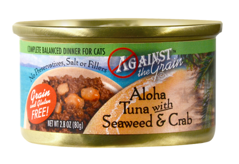 Against the Grain Aloha Tuna with Seaweed and Crab Canned Cat Food