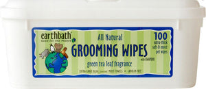 Earthbath Green Tea Leaf Essence Grooming Wipes for Dogs