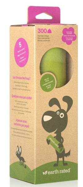 Earth Rated Lavender-scented Dog Waste Bags on a Single Roll 300-Count