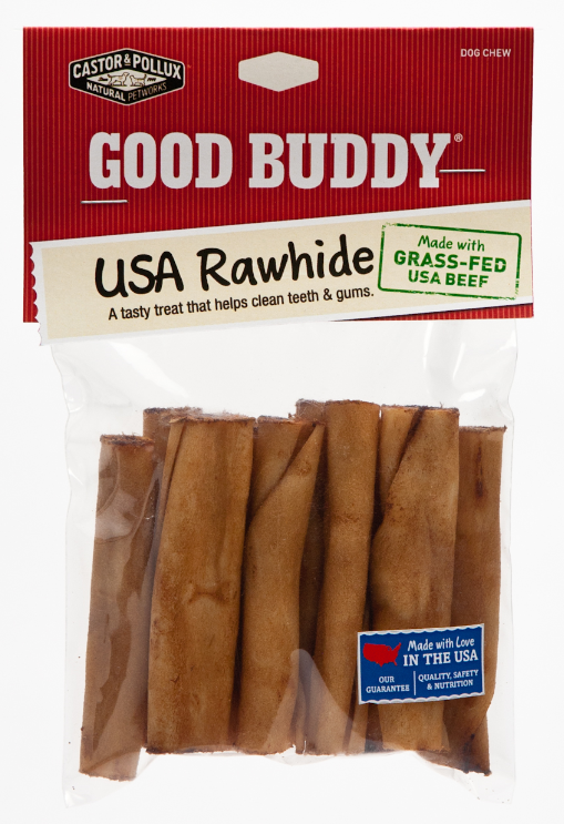 Castor and Pollux Good Buddy USA Rawhide Mini Rolls Dog Chews