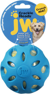 JW Pet Crackle Heads Ball Dog Toy