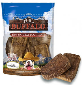 Pure Buffalo Lung Steaks Dog Treats
