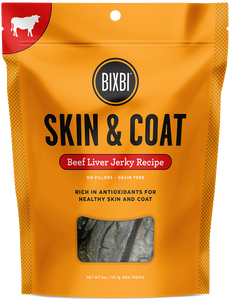 Bixbi Skin and Coat Beef Liver Jerky Dog Treats