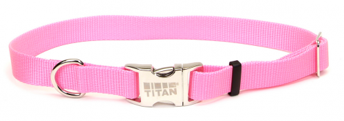 Coastal Pet Products Titan Metal Buckle Adjustable Nylon Small and Medium Dog Collar