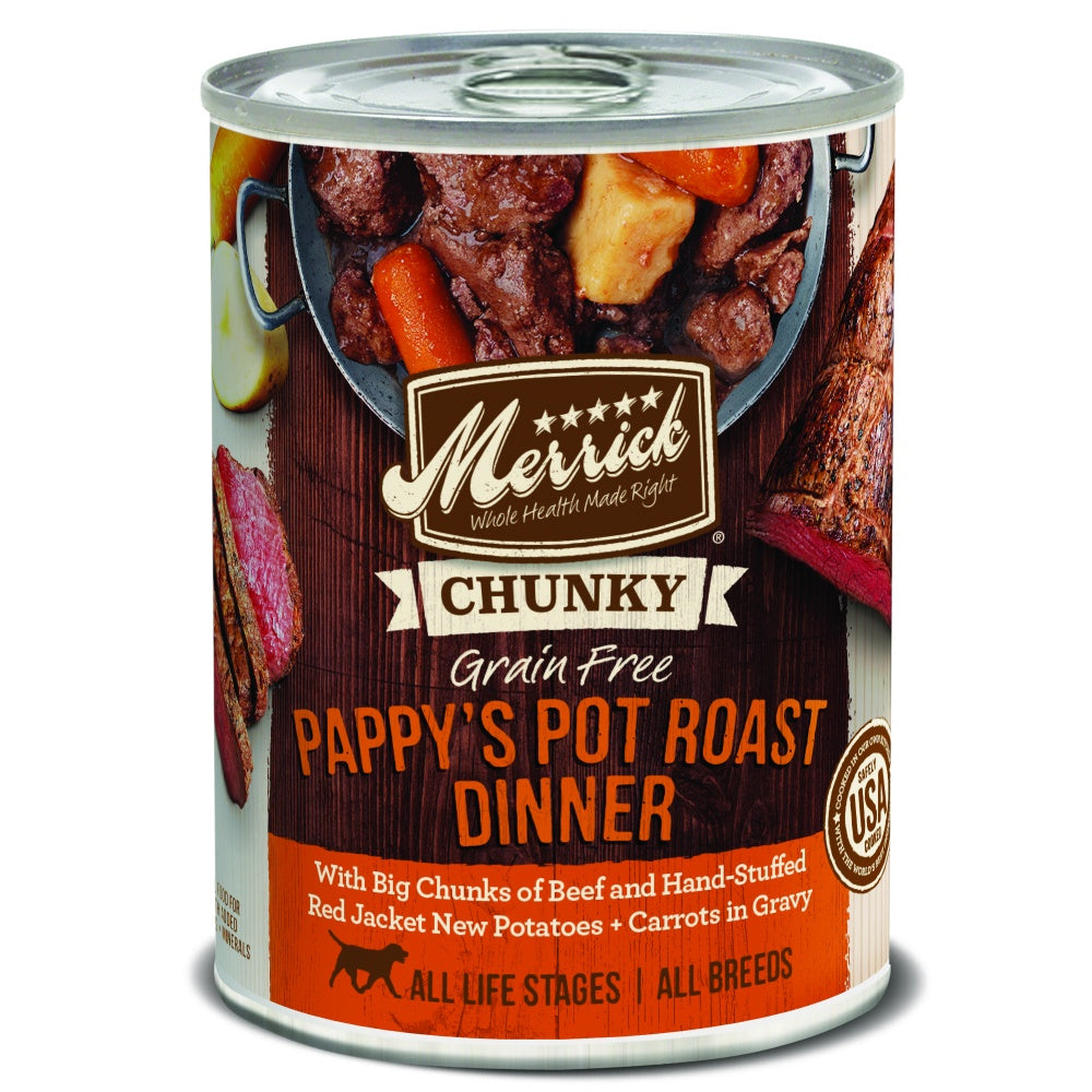 Merrick Grain Free Chunky Pappy's Pot Roast Dinner Wet Dog Food