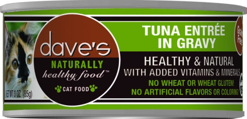 Dave's Naturally Healthy Tuna Entre in Gravy Canned Cat Food