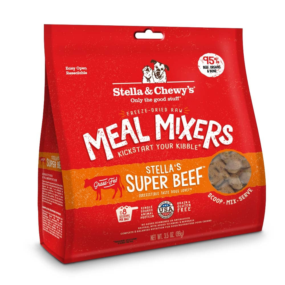 Stella & Chewy's Freeze Dried Meal Mixers Stella's Super Beef Formula for Dogs