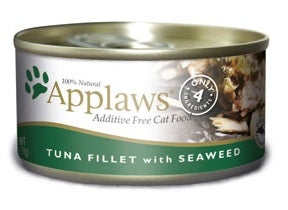 Applaws Additive Free Tuna Fillet with Seaweed Canned Cat Food
