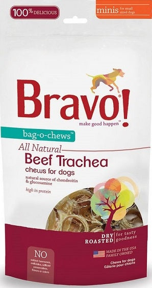 Bravo! Bag-O-Chews Dry Roasted Beef Trachea Dog Treats