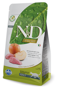 Farmina Prime N&D Natural and Delicious Grain Free Adult Wild Boar & Apple Dry Cat Food