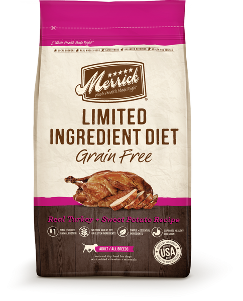 Merrick Limited Ingredient Diet Grain Free Real Turkey and Sweet Potato Recipe Dry Dog Food