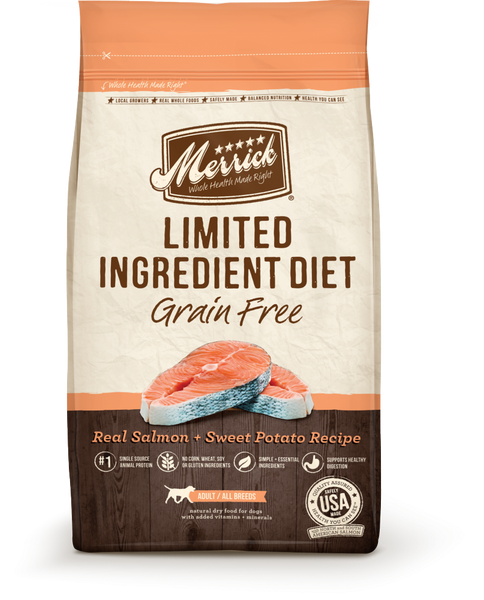 Merrick Limited Ingredient Diet Grain Free Real Salmon and Sweet Potato Recipe Dry Dog Food
