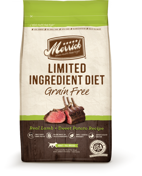 Merrick Limited Ingredient Diet Grain Free Real Lamb and Sweet Potato Recipe Dry Dog Food