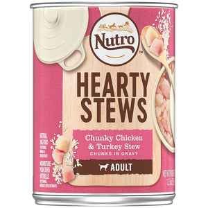 Nutro Adult Hearty Stews Chunky Chicken & Turkey Stew Chunks In Gravy Canned Dog Food