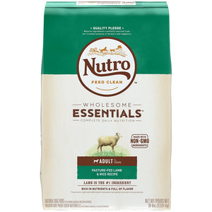 Nutro Wholesome Essentials Adult Pasture-Fed Lamb & Rice Dry Dog Food
