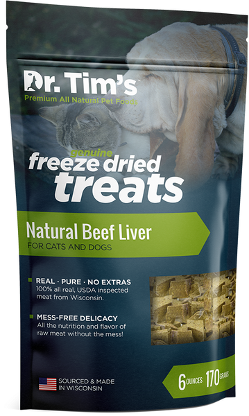 Dr. Tim's Freeze Dried Natural Beef Liver Dog and Cat Treats