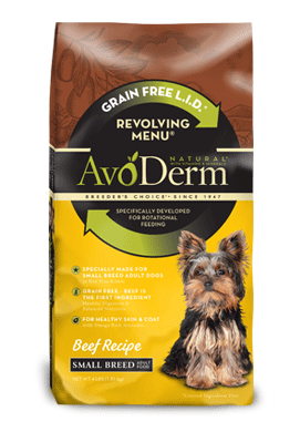 Avoderm Revolving Menu Small Breed LID Grain Free Beef Recipe Adult Dry Dog Food
