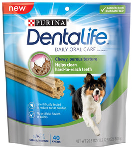 Purina Dentalife Daily Oral Care Adult Small and Medium Breed Chicken Flavor Dog Treats