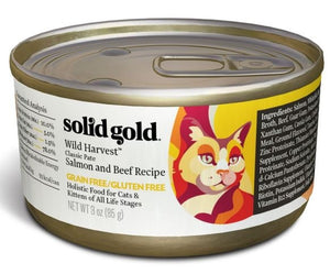 Solid Gold Grain Free Wild Harvest Salmon and Beef Recipe Canned Cat Food