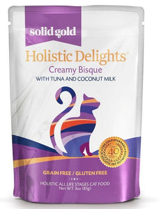 Solid Gold Grain Free Holistic Delights Tuna Creamy Bisque Cat Food Pouches