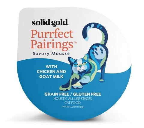 Solid Gold Grain Free Purrfect Pairings Chicken Savory Mousse Cat Food Tray