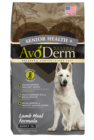 Avoderm Senior Health Grain Free Lamb Meal Formula Dry Dog Food