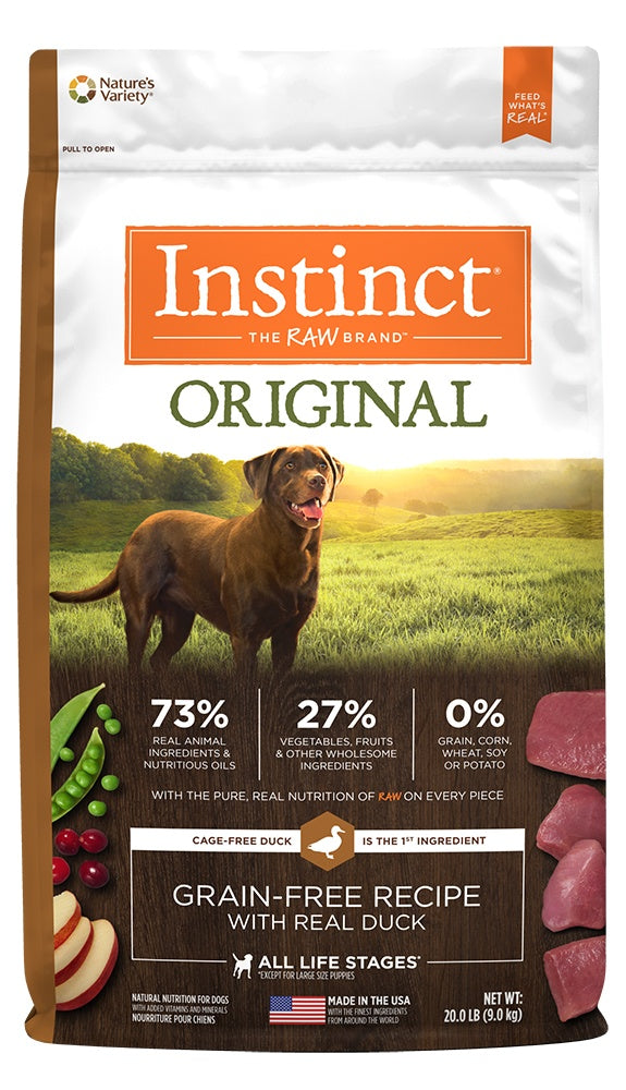 Nature's Variety Instinct Original Grain Free Recipe with Real Duck Natural Dry Dog Food