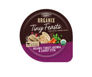 Castor and Pollux Organix Tiny Feasts Organic Turkey, Quinoa, and Carrot Stew Wet Dog Food