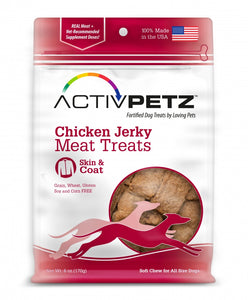 Loving Pets AcitvPetz Grain Free Chicken Jerky Skin and Coat Health Dog Treats