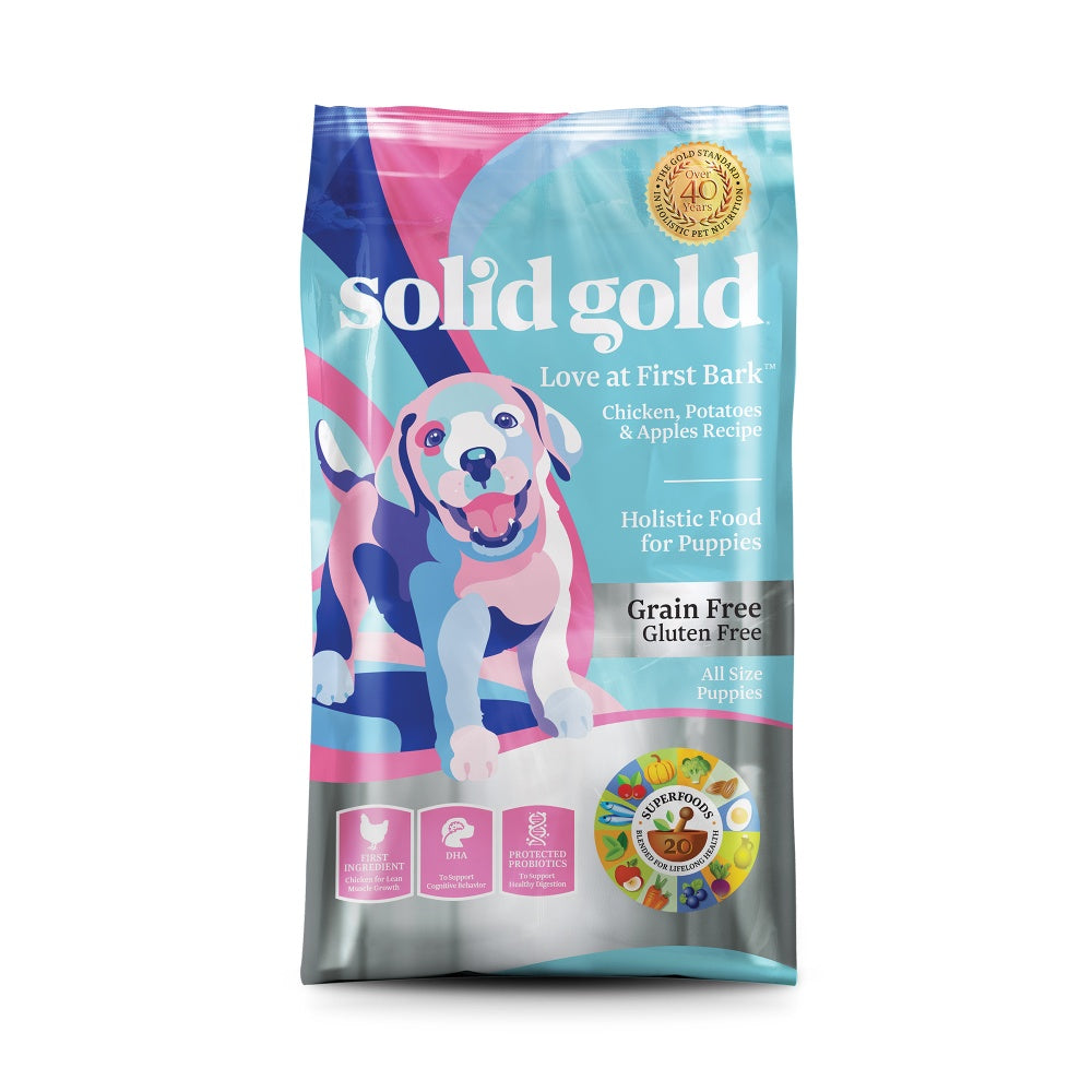 Solid Gold Love at First Bark Grain Free Puppy Recipe with Chicken, Potato & Apples Dry Dog Food