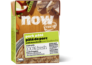 Petcurean Now! Fresh Grain Free Pork Pate with Bone Broth Wet Cat Food