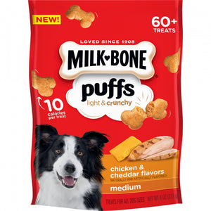 Milk-Bone Puffs Crunchy Chicken and Cheddar Dog Treats