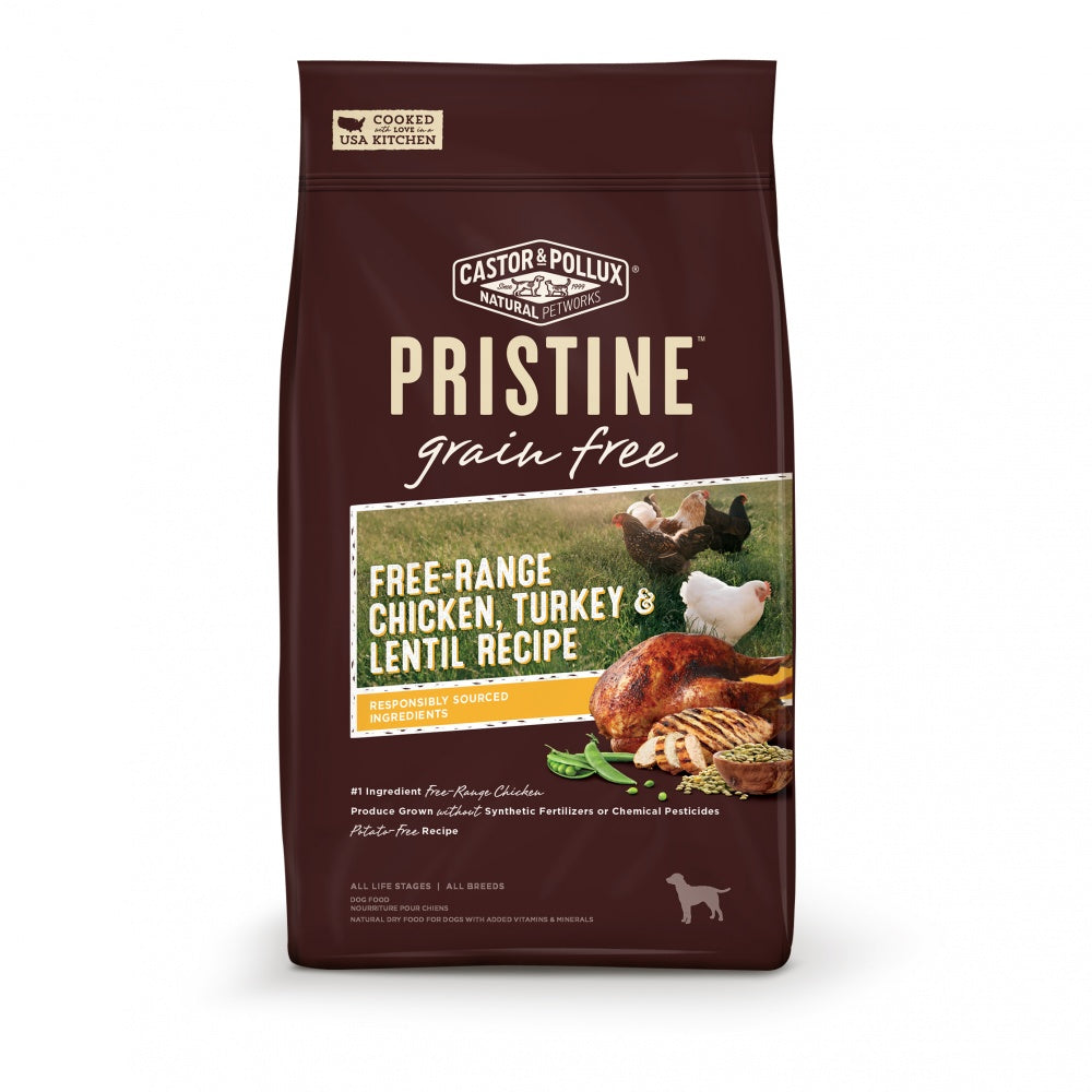 Castor and Pollux Pristine Grain-Free Free-Range Chicken, Turkey and Lentil Recipe Dry Dog Food